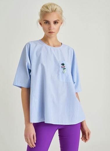 İşlemeli Bluz-People By Fabrika